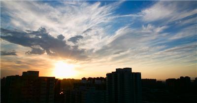 夕阳高清延时实拍