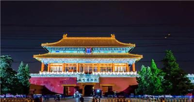 北京天安门夜景延时拍摄