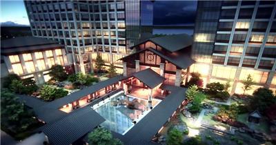 响水县城东星级酒店设计0418 建筑动画视频_batch 房地产三维动画3d动画