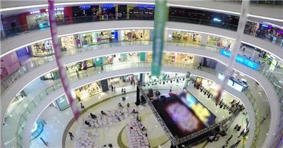 大型商场内部场景购物人流拍摄