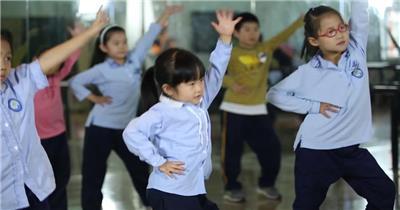 学校 校园小学生 升国旗 美术舞蹈运动 红领巾 高清实拍视频素材教育 知识 学习 教室
