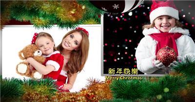 ED圣诞树相片展示 EDIUS模板 圣诞节 EDIUS素材 节日模版