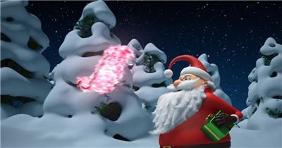 AE:天外圣诞老人动画 ae素材 免费下载17 圣诞节ae模版