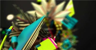 动感炫酷 时尚卡通098炫酷视频背景 酒吧视频 dj舞曲 夜店视频