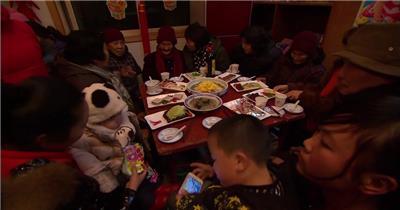 新年素材之年夜饭 欢聚 团圆