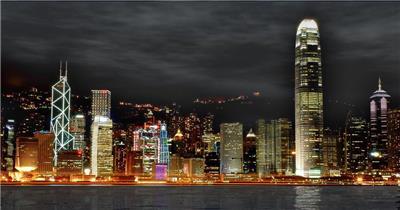 -城市夜景空间款Y1652城市的夜晚 led视频素材库