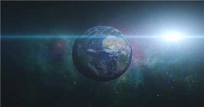 高清视频素材 宇宙中的地球个EarthZoomIn