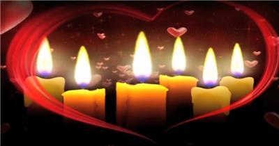 -精选综合系列Y3062感恩父母爱心蜡烛教师有音乐 婚礼系列大全 婚庆