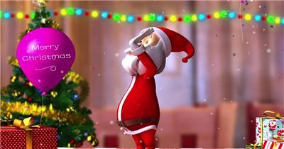 -圣诞节系列款Y7648圣诞老人有音乐 led视频素材库