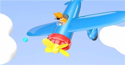 -儿童卡通梦幻款Y3892卡通熊飞机