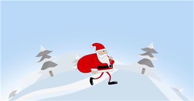 ED行走的圣诞老人 EDIUS模板 圣诞节 EDIUS素材 节日模版