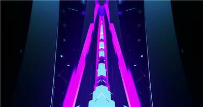 YM3222霓虹动感摇滚节奏灯光效果 灯光秀万花筒 摇滚背景