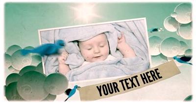 11678 卡通蓝天背景儿童相册展示 AE教程 AE模板 ae视频素材 免费下载 儿童卡通