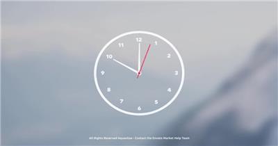 11847 模拟时钟动画 免费AE模板特效素材下载 典尚视频素材