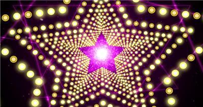 A254-五角星灯光效果 酒吧夜店 酒吧视频 dj舞曲 夜店视频