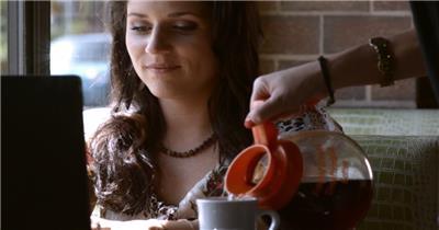 喝咖啡001028VTXHD中国实拍视频素材 视频下载中国实拍