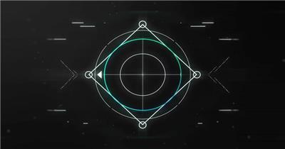 12877 创意科技感线条Logo动画 特效素材 AE模板资源站 科技元素ae素材