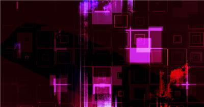 魔幻暗黑紫色透明方格向下移动遮罩变幻舞台背景视频素材