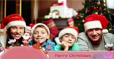ED卡通圣诞节主题包装素材 EDIUS模板 圣诞节 EDIUS素材 节日模版