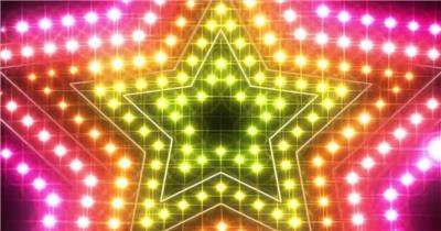 YM3224霓虹五角星灯光闪烁走秀时尚T台 酒吧视频 dj舞曲 夜店视频