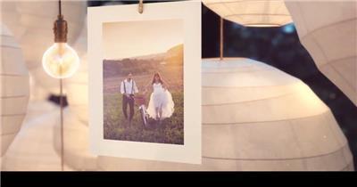 AE:元宵之夜婚礼相册展示 AE资源ae下载16 相片照片 ae素材 幻灯片