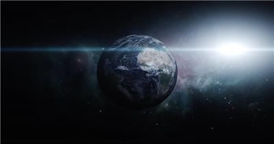 高清视频素材 宇宙中的地球个EarthZoomInDRAATIC