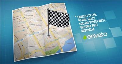 AE:8794 地图导航元素 ae素材模板下载 ae素材免费下载