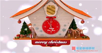 AE:圣诞2015时钟 AE模板素材下载15 圣诞节ae模版