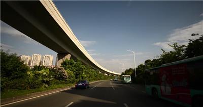 深圳地铁三号线龙岗线地铁站高加桥龙岗大道_1920X1080_高清视频素材下载