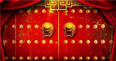 喜庆开门红红色喜庆 春节春节 新年 新春佳节 过年