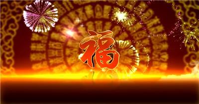 寿款Y4286生日寿宴片头有音乐 led视频背景 视频素材动态背景