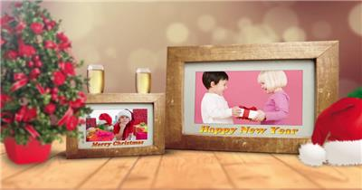 ED圣诞节相框展示 EDIUS模板 圣诞节 EDIUS素材 节日模版