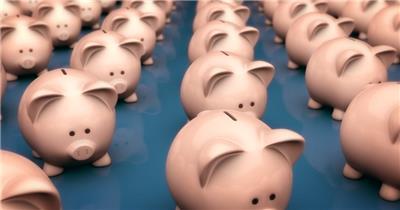小猪储钱罐089HDBackground1动态背景视频背景 视频动态背景 虚拟背景视频