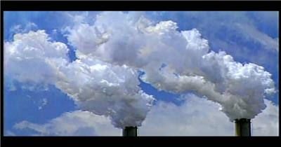 0877-大烟囱冒烟1(污染源) 地球宇宙太空