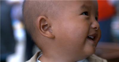 0004-农村小朋友笑脸一组 人物类 人物视频 人物实拍