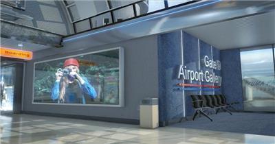 AE:飞机和机场360度漫游展示 ae特效素材17