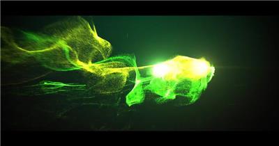 AE:史诗抽象粒子标题展示 AE模板文件16 大气 电影特效ae素材