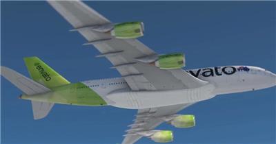AE:航空飞机机身标志 ae特效素材下载16 logo标志ae动画模版 标志动画