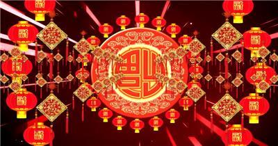 元旦春节素材喜庆 灯笼 大鼓 龙凤春节 新年 新春佳节 过年