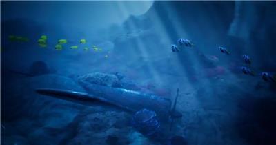12827 海底标志动画 特效素材 AE模板资源站 LOGO标志ae源文件