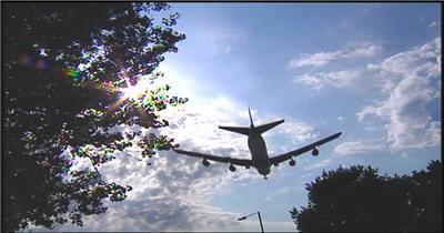 0294-飞机飞过交通 运输