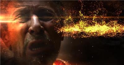 AE:史诗火焰粒子影视标题展示 ae特效素材17 大气 电影特效ae素材