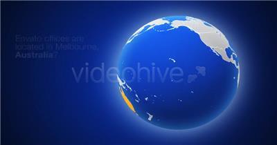 AE:几何世界地图 ae特效素材下载16