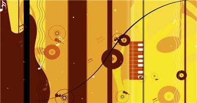 -音乐喇叭乐器款Y472音符吉他 led视频素材库