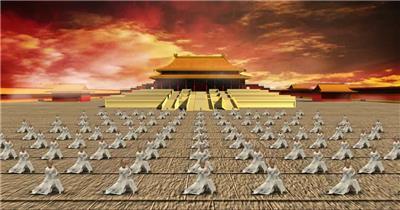YM0909功夫会宏伟场景武术表演(含音乐) 武术太极八卦 中国风视频 背景视频
