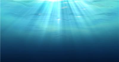海底海浪深海Y0210海洋水面光线 led视频背景 视频素材动态背景