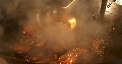 饭店酒楼吃饭聚餐美食火锅高清视频素材餐饮厨师食物厨房美食20