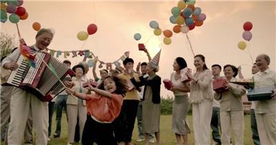幸福生活12人们 人群 人物视频 人物实拍