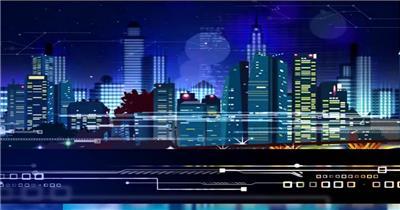 -城市夜景空间款Y5286地铁轻轨火车窗外夜色夜景楼宇 led视频素材库