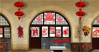 -古代建筑庭院款Y4271陕北 led视频素材库